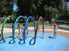 John D. Morgan Water Park, Campbell,- free water park with sand area as well - wear your swim suits!