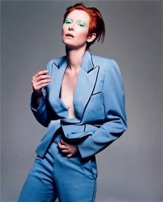 Tilda Swinton as David Bowie by Craig McDean :: Vogue Italia, February 2003