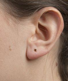 jukserei - Little Star Ear Stud, Gold | Silver | Ruthenium
