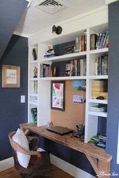 Built-ins with a desk!