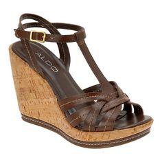 7152eca4238 ALDO Gunilda - Women Wedge Sandals Brown Wedges