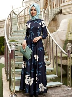 Orkide Dress - Navy Blue - Nilufer Kamacioglu