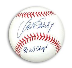 "Autographed Steve Garvey MLB Baseball Inscribed """"81 WS Champs"""""