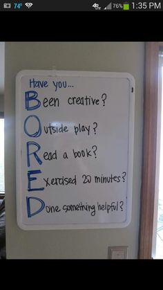 Feeling bored? Well have you...