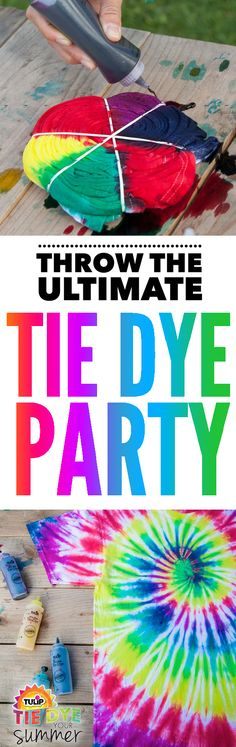 Plan the ultimate tie dye party with this awesome tie dye kit.  Everything you need to dye up to 90 projects and have fun with 10 party people!  That's a lot of fun tie dye techniques and patterns  to try.