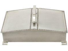 Sterling Silver Cigarette Box - Art Deco Style - Vintage Elizabeth II  SKU: A4477 Price  GBP £1,395.00  http://www.acsilver.co.uk/shop/pc/Sterling-Silver-Cigarette-Box-Art-Deco-Style-Vintage-Elizabeth-II-42p8225.htm