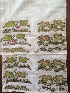 19th C Antique Ottoman Turkish Gold Silk Hand Embroidery ON Linen 12   eBay
