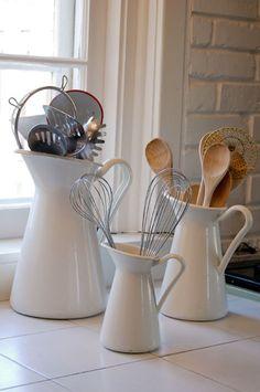 Kitchen Tool Storage - Ikea Pitchers