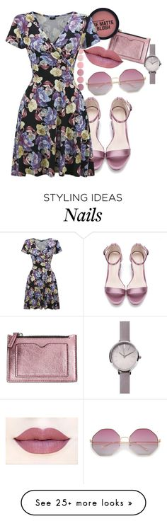 """Throw 'n' Go Dress"" by aylaclaire13 on Polyvore featuring Deborah Lippmann, MANGO and WithChic"