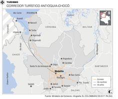 Turismo: Antioquia tiene corredor turístico Map, San Carlos, Runners, Turismo, Maps