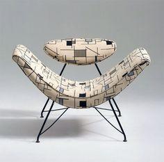 Adjustable chair designed by Martin Eisler, 1955