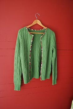 Sew Sally: Going Green Shirt Makeover, Sewing Clothes, Diy Clothes, Old Sweater Crafts, Pullover Upcycling, Renegade Seamstress, Alter Pullover, Recycle Old Clothes, Altered Couture
