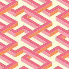 Cole & Son - Luxor Wallpaper - Pink - 105/1004
