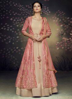 f68b492cc16 Buy Thrilling Net Floor Length Anarkali Suit Online