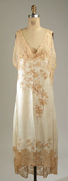Nightgown Date: 1930 Culture: French Medium: silk Accession Number: C.I.65.37.1