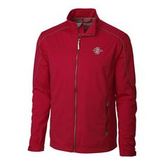 San Diego State Aztecs Cutter & Buck Big & Tall WeatherTec Opening Day Full Zip Jacket - Red