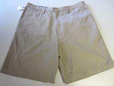 Chaps Ralph Lauren Shorts 40 Khaki Flat Front Mens NEW #ChapsRalphLaurenChapsRalphLaurenShorts40Kha #CasualShorts