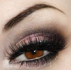 """.Bows and Curtseys - blushing bride - check out the silver liner with the black liner right beside the lashes"