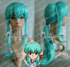 Shipping ~ ~ ~ Yu Yu Hakusho Yu kina Cosplay peluca larga azul clara en Pelucas de Salud y Belleza en AliExpress.com | Alibaba Group