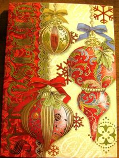 125 best punch studio christmas boxes images on pinterest punch punch studio 94997 christmas greeting cards victorian gold embellished ornaments boxed set of 20 m4hsunfo
