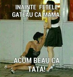 Înainte fetele găteau ca mama Funny Memes, Jokes, Get Up, Going Out, Ballet Skirt, Two Piece Skirt Set, Humor, Recovery, Drinking