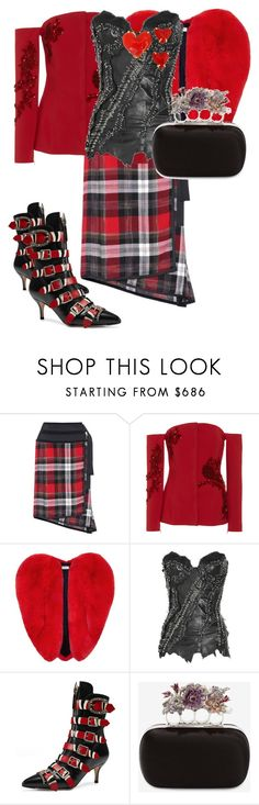 """""""red and black heart"""" by matan-sowatskey ❤ liked on Polyvore featuring Public School, Carla Zampatti, Yves Saint Laurent, Balmain, Gucci, Alexander McQueen and Givenchy"""