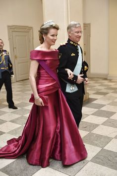 Queen Mathilde of the Belgians wore the Nine Provinces Tiara at the 75th birthday celebrations of Queen Margrethe II of Denmark.
