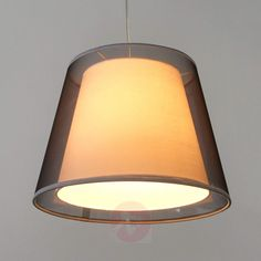 Black pendant lamp Weni with double lampshade-4018030-31