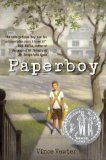 """""""Paperboy"""" is about an 11-year-old boy who stutters. When he's given a paper route in the summer of 1959 he meets new people and learns more about himself. This is a Newbery Honor Book for 2014."""