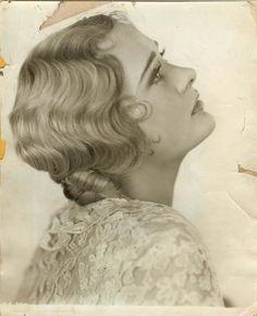 Wavy, vintage blonde