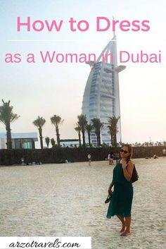 What to wear when you're in Dubai? Read my blog. #travel #dubai #whattowear…