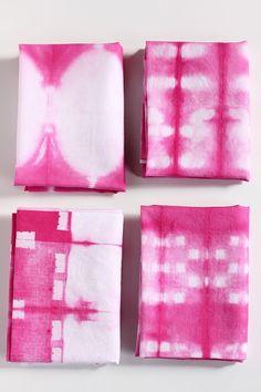 DIY Shibori Cloth Napkins