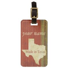 Made in Texas.  Rusty Red with muted green and blue stripes make a rather distinctive look.