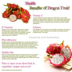 Dragon Fruit Health Benefits Infographic
