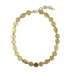 Nine West Vintage America Collection® Antique Goldtone Collar Necklace at www.herbergers.com