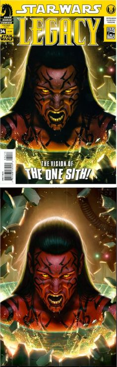 DANIEL DOS SANTOS - Star Wars : Legacy #34 - March 2009 Dark Horse - cover by comics.org - print by comicartfans.com