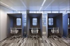 These individual desks are quite nice from the offices of TNT Express. Would be quite nice for co-working.