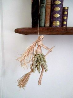 Handmade OOAK Pagan Wiccan Lammas Crone Witch . Litha Witch
