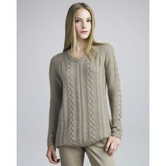 Cable-Knit Sweater by Loro Piana at Bergdorf Goodman. Brooklyn Tweed, Ravelry, Complete Outfits, Contemporary Fashion, Cable Knit Sweaters, Neiman Marcus, Knitwear, Sweaters For Women, Pullover