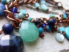$24 Ocean blues! #etsy #handmade #bracelet #ocean @Etsy! @Everything Etsy