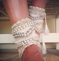 Ankle cuffs #cowrie