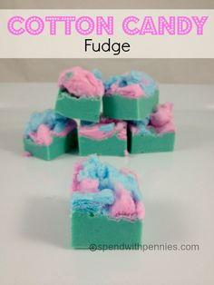 Cotton Candy Fudge  Love it?  Pin it!  (Just click the photo)  Follow Spend With Pennies on Pinterest for more great recipes! This is such a fun recipe and just takes a couple of minutes to put together!  My kiddos love this… perfect addition to a...