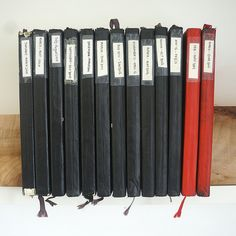 I don't even need labels on mine... I know which is which just by looking at em. True moleskine love!