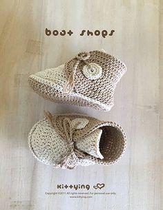 Patrón de crochet zapatos del barco del bebé del ganchillo del Zapato Del  Barco e6ea7eff2b2