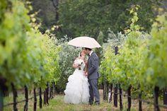 Wouldn't mind a little rain on my wedding day - cute umbrella ideas!