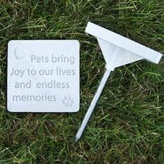 Pet Memory Stones, Memorial Headstone, 'Pets Bring Joy To Our Lives And Endless Memories', Small -- See this awesome image  : Dog Memorials