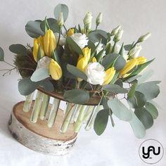 Lalele galbene si lisianthus, o structura cu flori de primavara_YaU_YaU concept_Elena toader (4)