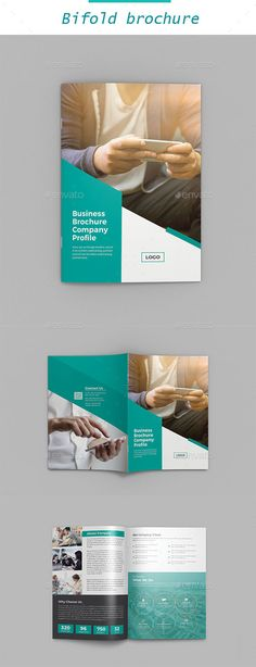 #Corporate #Bifold Brochure - #Brochures Print Templates