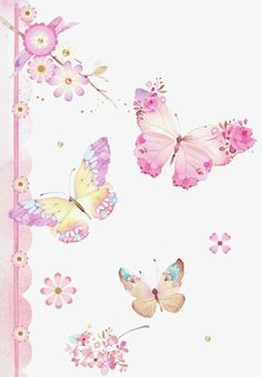 Hand-painted pink butterfly background PNG and Clipart Butterfly Background, Butterfly Wallpaper, Pink Butterfly, Illustration Papillon, Illustration Art, Collages D'images, Art Papillon, Beautiful Butterflies, Belle Photo