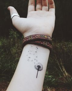 Temporary Tattoo Dandelion by BlueHazelwood on Etsy, $2.50